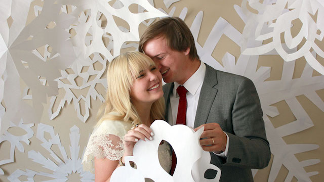 Snowflake backdrop