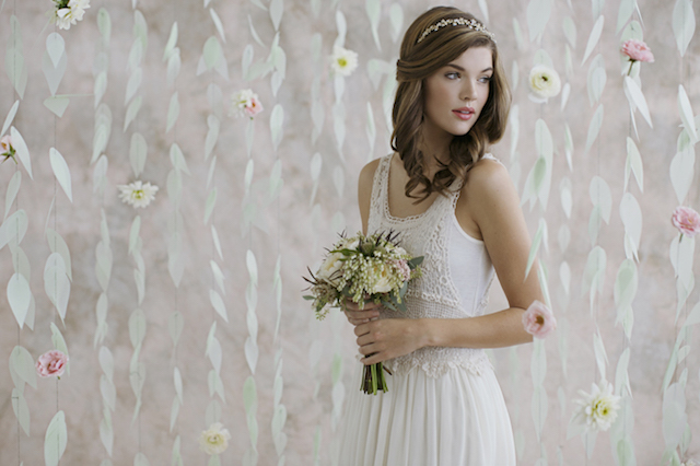 Vellum paper photo booth backdrop