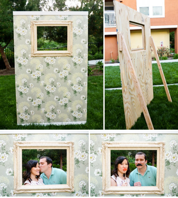 Vintage photo booth wall frame