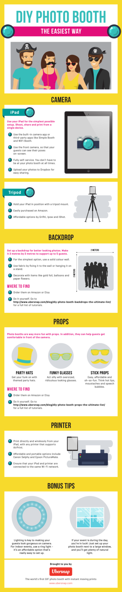 DIY Photo Booth - The Easiest Way (Infographic)