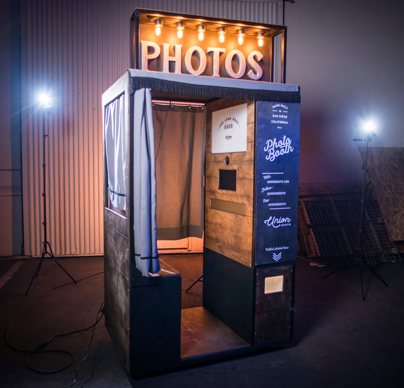 Vintage style enclosed photo booth
