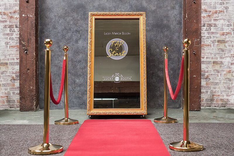 Mirror photo booth with red carpet