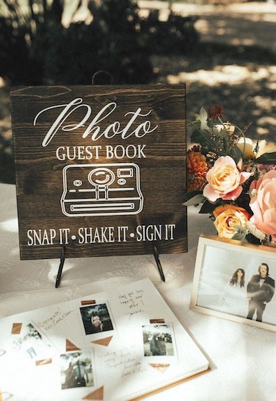 Photo guest book photo booth
