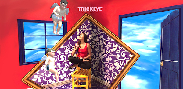Trick eye photo booth