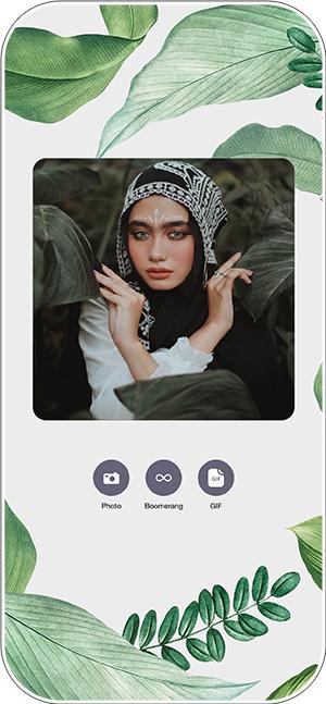 Screenshot of virtual photo booth for virtual wedding