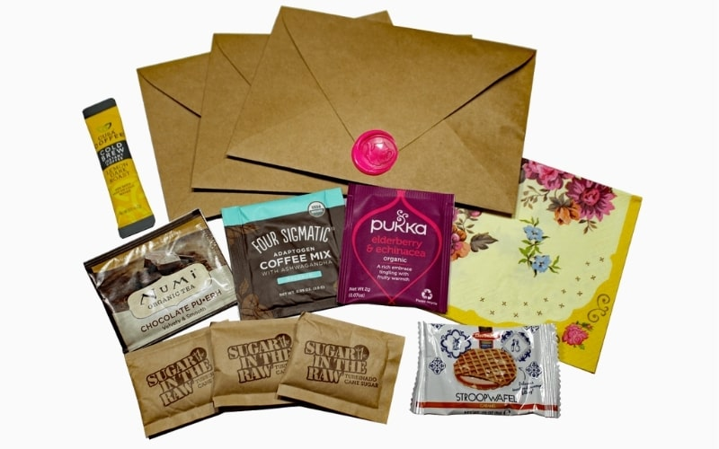 Virtual tea and coffee tasting kit for online events