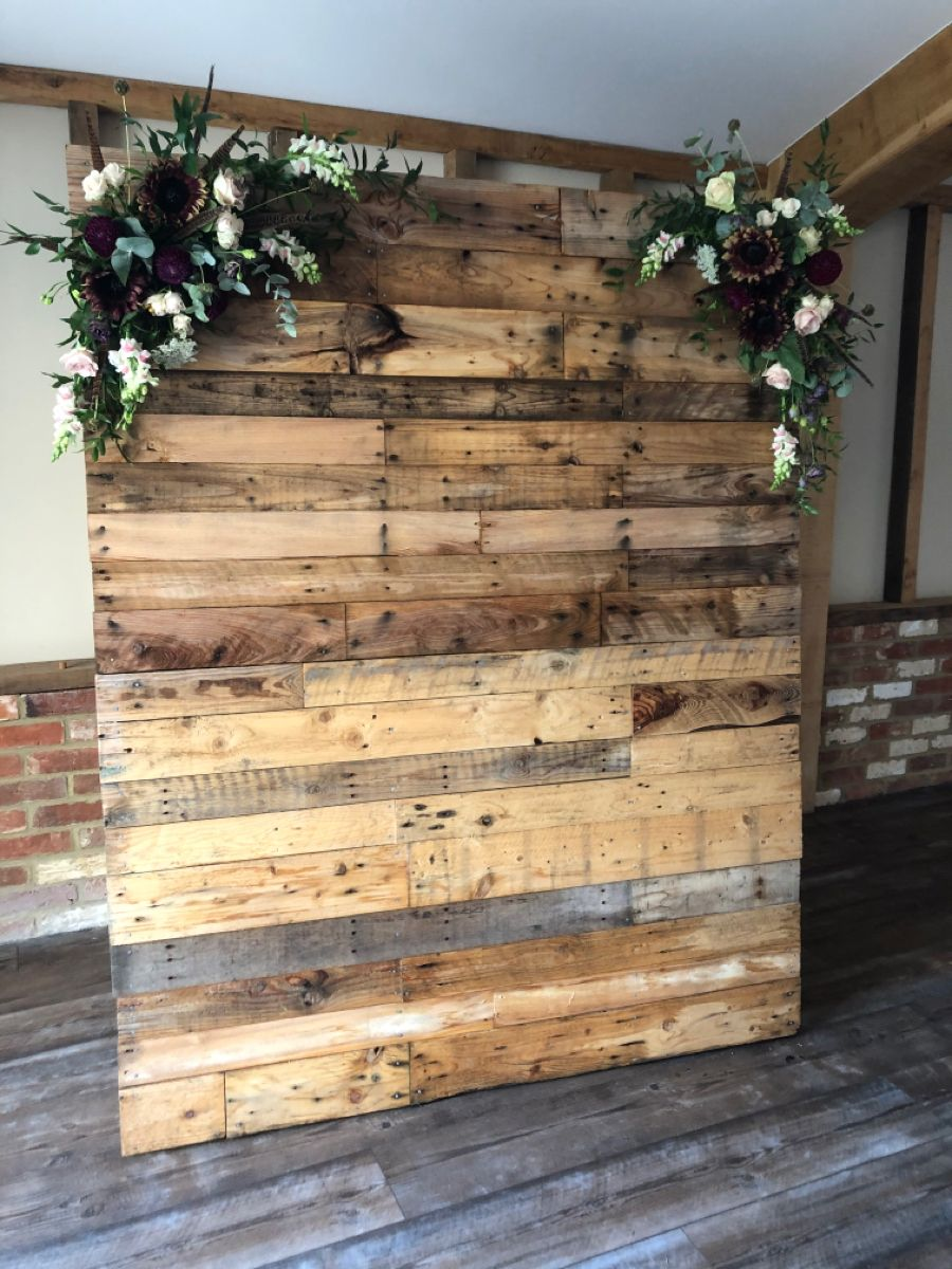 Wooden Frame Board backdrop background for photoshoot at wedding photobooth with decorations
