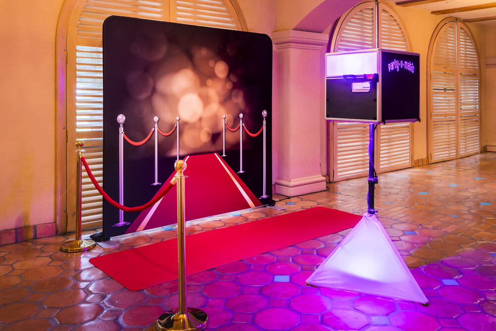 Grammys Awards Red Carpet Walk Photoshoot wedding event occassion photobooth setup