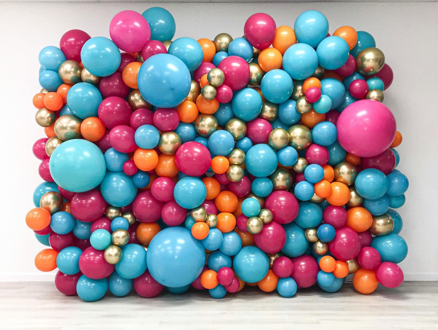 Wall of Balloons display art piece decoration for event photoshoot wedding corporate photobooth minimalist