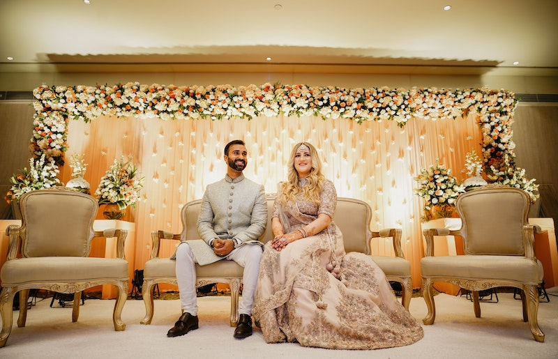 Couple getting married in Indian wedding ceremony